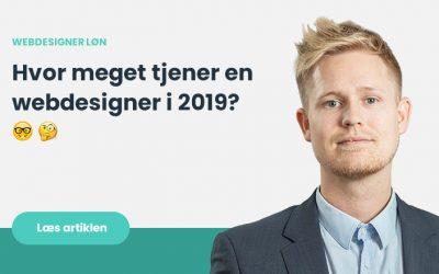 Webdesigner løn – Hvad tjener man som webdesigner i webbureau i 2019?